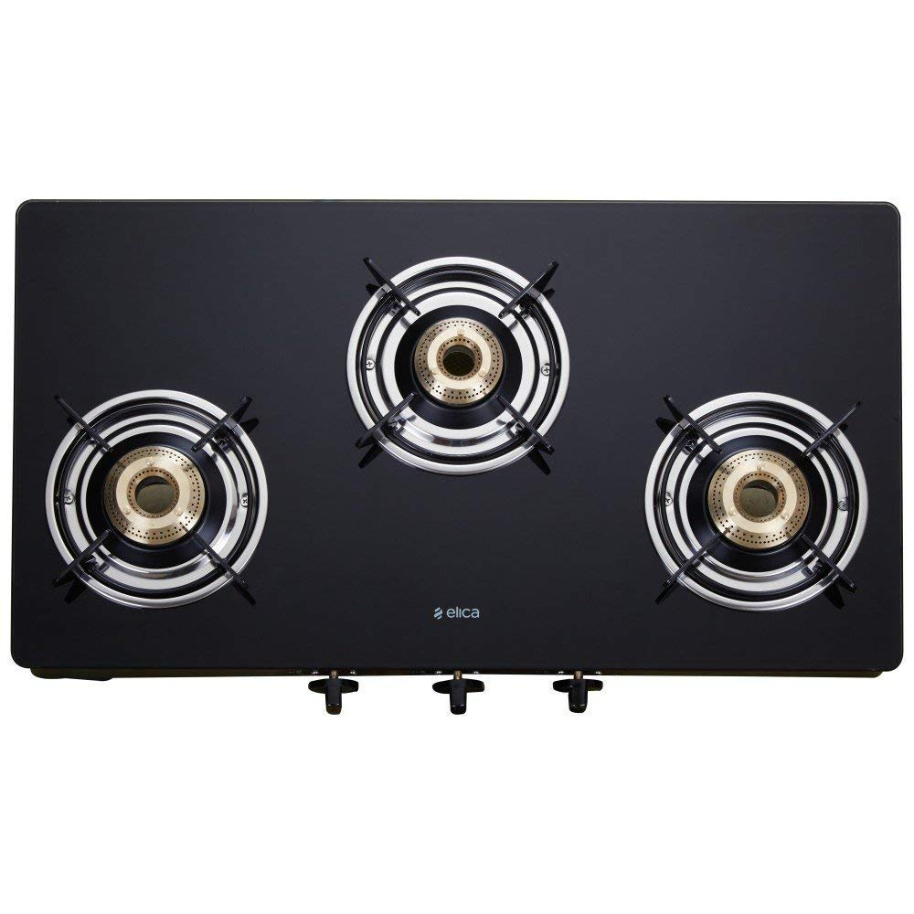 Elica Vetro best glass top gas stove