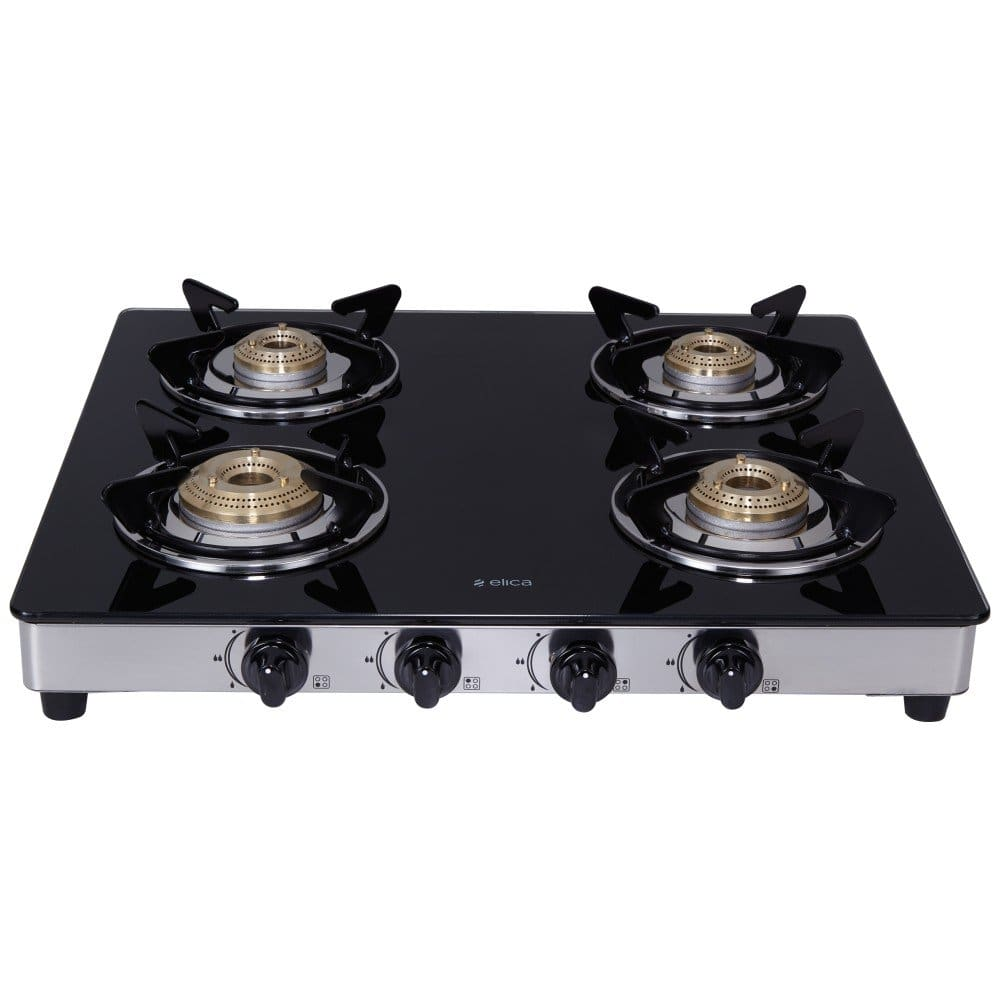 Elica vetro gas stove glass top