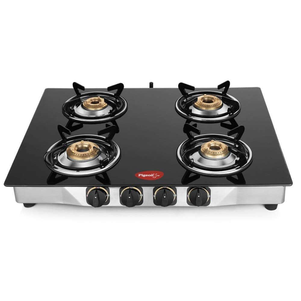 Pigeon glass top 4 burner gas stove