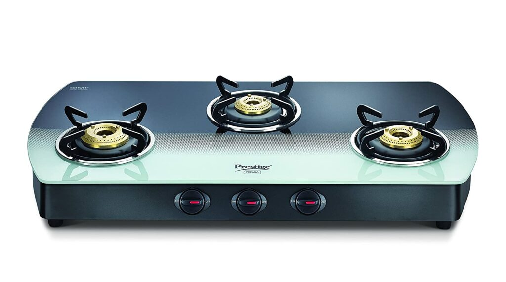 Prestige 3 burner gas stove in India