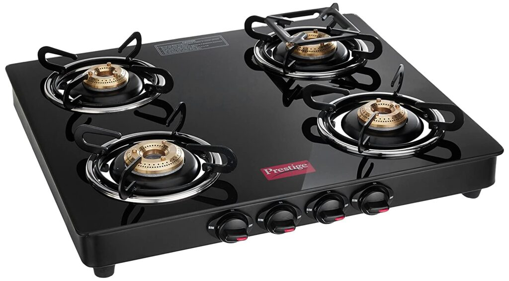 Prestige Marvel 4 burner glass top gas stove