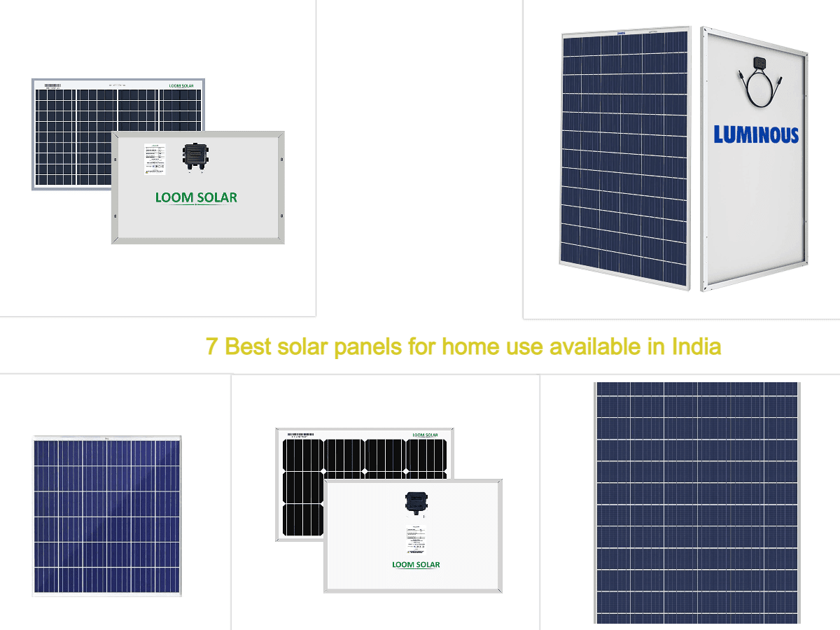 7 Best solar panels for home use available in India