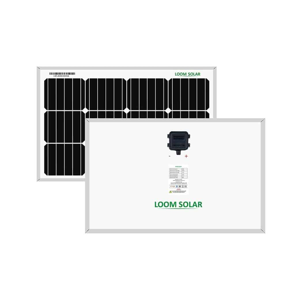 Loom solar panels for home use